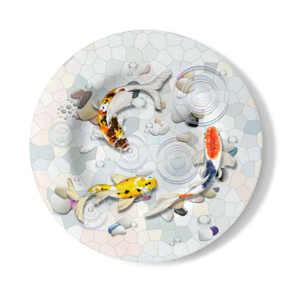 Decorative Wall Plate 'Clear Water Koi' Artwork Two