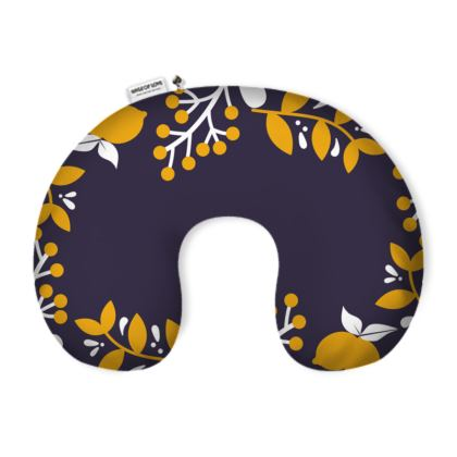 Neck Pillow with a vintage floral pattern.
