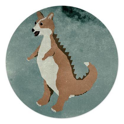 Stickers Sheets Corginnosaurus Rex - V2
