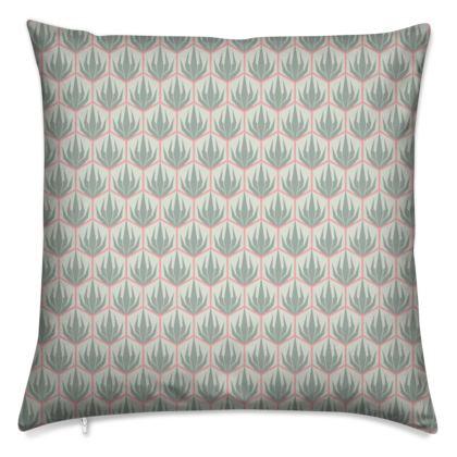 Palm Deco Pattern ~ Spring Succulents Cushion