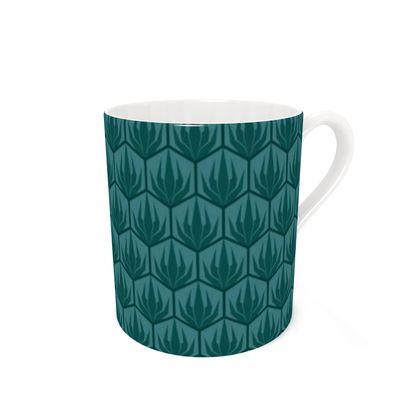 Palm Deco Pattern ~ Dark Jungle Coffee Mug