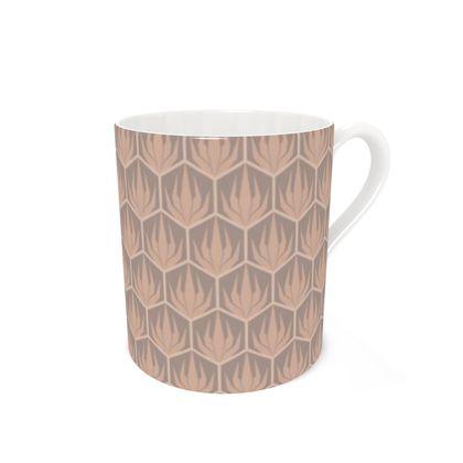 Palm Deco Pattern ~ Desert Oasis Coffee Mug