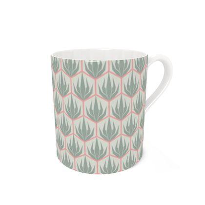 Palm Deco Pattern ~ Spring Succulents Coffee Mug