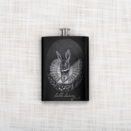 'Hello Bunny' Hip Flask