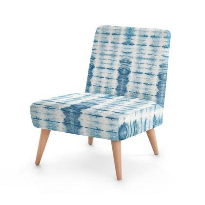 Indigo Concertina Print Occasional Chair