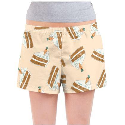 'I Carrot Cake My Eyes Off You' Ladies Pyjama Shorts