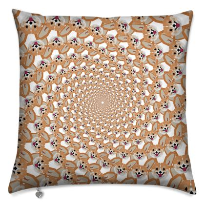 Cushions - Cardigan Corgi Face Pattern - version two