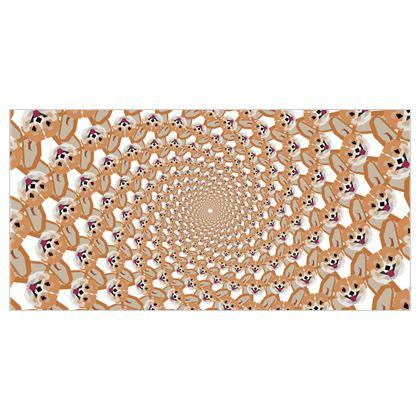 Tapestry - Cardigan Corgi Face Pattern - version two