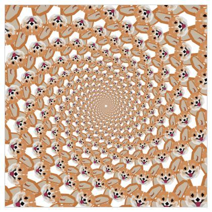 Wallpaper - Cardigan Corgi Face Pattern - version two