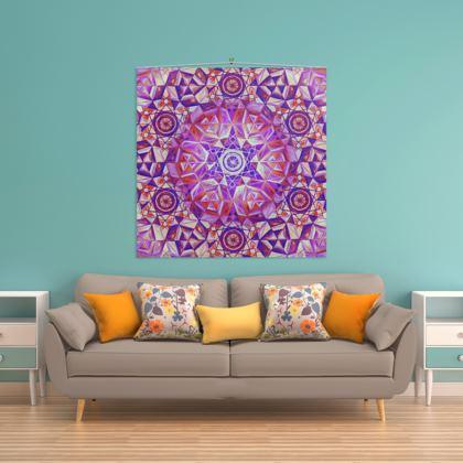 Wall Hanging Purple Mandala
