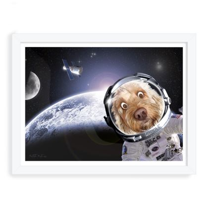 DOODLE IN SPACE WHITE FRAME