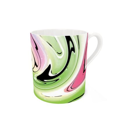 Bone China Mug - Multicolour Swirling Marble Pattern 2 of 12