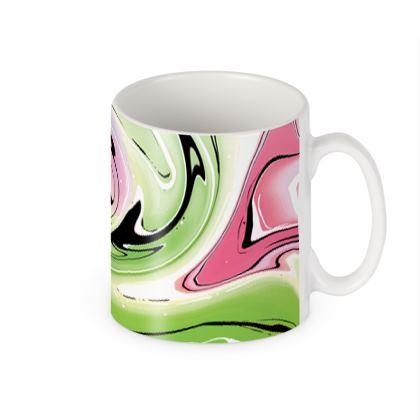 Builders Mugs - Multicolour Swirling Marble Pattern 2 of 12