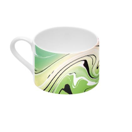 Cup And Saucer - Multicolour Swirling Marble Pattern 2 of 12