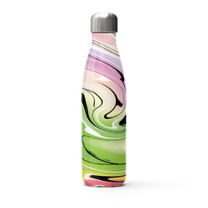 Stainless Steel Thermal Bottle - Multicolour Swirling Marble Pattern 2 of 12