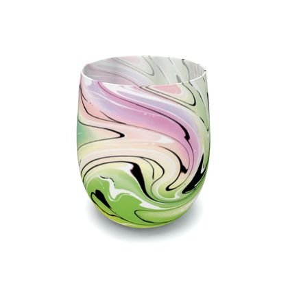 Water Glass - Multicolour Swirling Marble Pattern 2 of 12