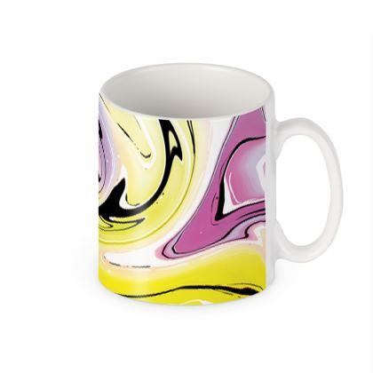 Builders Mugs - Multicolour Swirling Marble Pattern 3 of 12