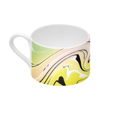Cup And Saucer - Multicolour Swirling Marble Pattern 3 of 12