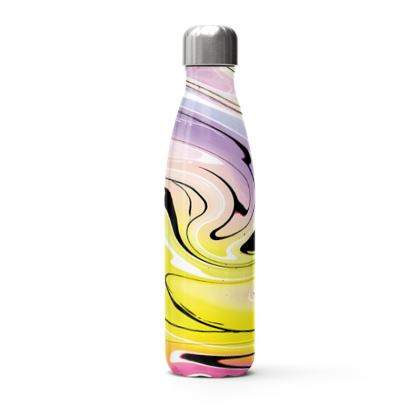 Stainless Steel Thermal Bottle - Multicolour Swirling Marble Pattern 3 of 12