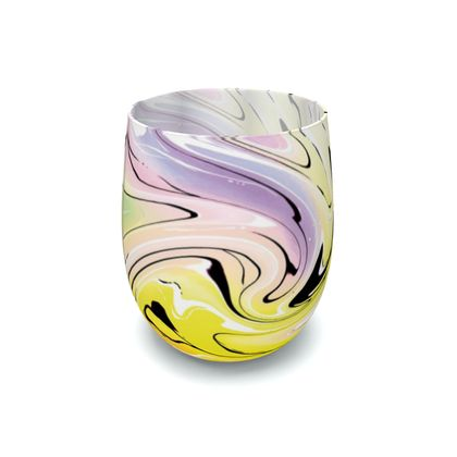 Water Glass - Multicolour Swirling Marble Pattern 3 of 12