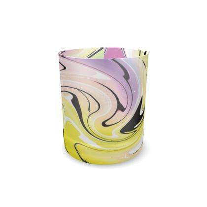 Whisky Glass - Multicolour Swirling Marble Pattern 3 of 12