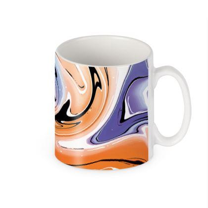 Builders Mugs - Multicolour Swirling Marble Pattern 4 of 12