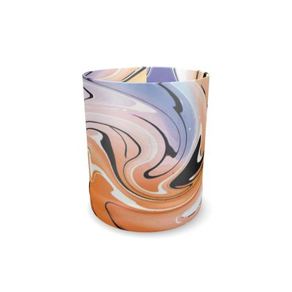 Whisky Glass - Multicolour Swirling Marble Pattern 4 of 12