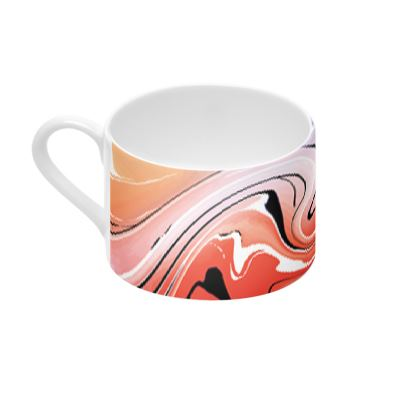 Cup And Saucer - Multicolour Swirling Marble Pattern 5 of 12
