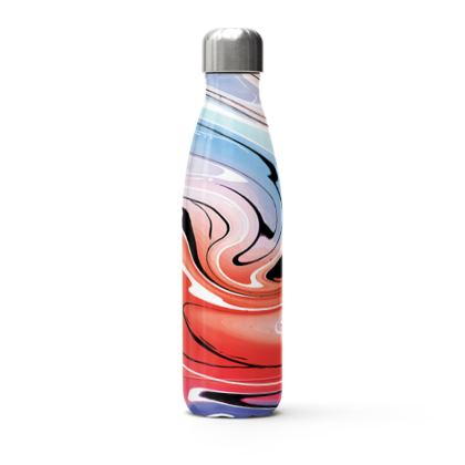 Stainless Steel Thermal Bottle - Multicolour Swirling Marble Pattern 5 of 12