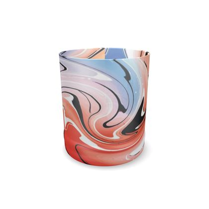 Whisky Glass - Multicolour Swirling Marble Pattern 5 of 12