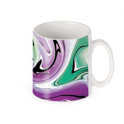 Builders Mugs - Multicolour Swirling Marble Pattern 7 of 12