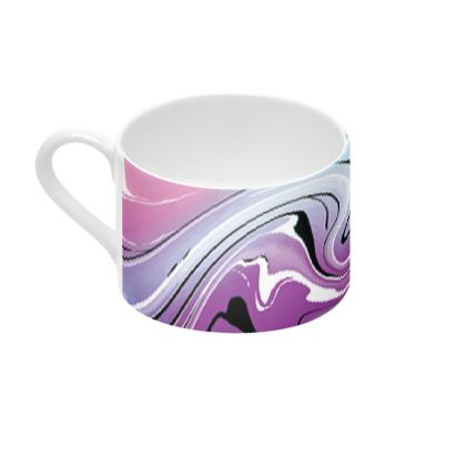 Cup And Saucer - Multicolour Swirling Marble Pattern 7 of 12