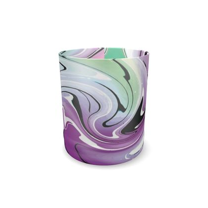 Whisky Glass - Multicolour Swirling Marble Pattern 7 of 12