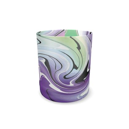 Whisky Glass - Multicolour Swirling Marble Pattern 8 of 12