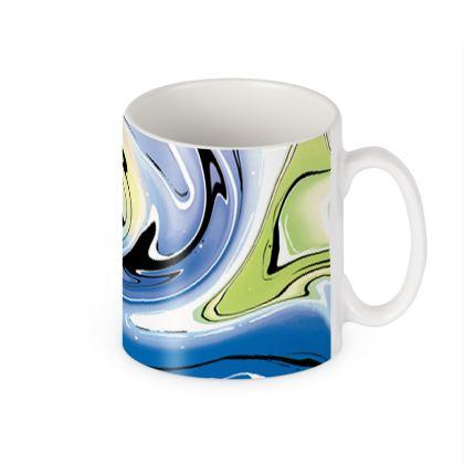 Builders Mugs - Multicolour Swirling Marble Pattern 9 of 12