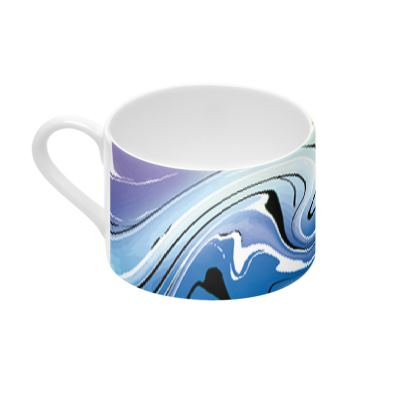 Cup And Saucer - Multicolour Swirling Marble Pattern 9 of 12