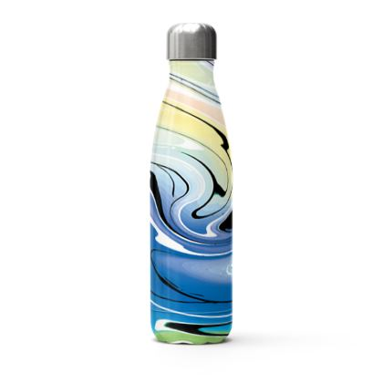 Stainless Steel Thermal Bottle - Multicolour Swirling Marble Pattern 9 of 12