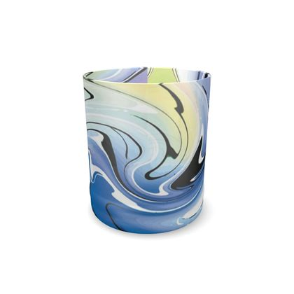 Whisky Glass - Multicolour Swirling Marble Pattern 9 of 12