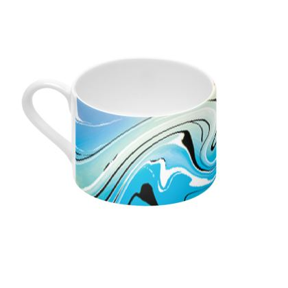 Cup And Saucer - Multicolour Swirling Marble Pattern 10 of 12
