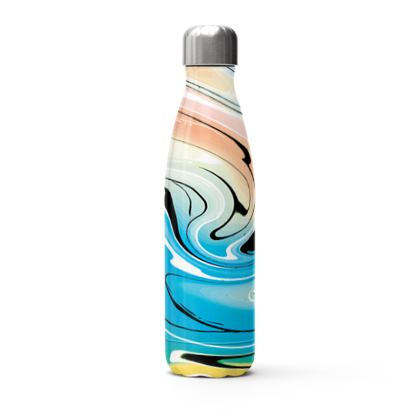 Stainless Steel Thermal Bottle - Multicolour Swirling Marble Pattern 10 of 12
