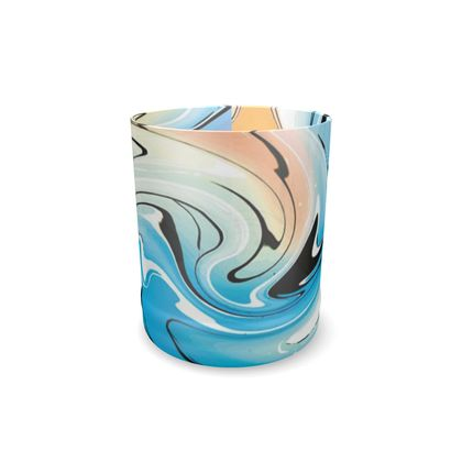 Whisky Glass - Multicolour Swirling Marble Pattern 10 of 12