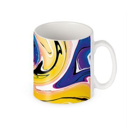 Builders Mugs - Multicolour Swirling Marble Pattern 12 of 12
