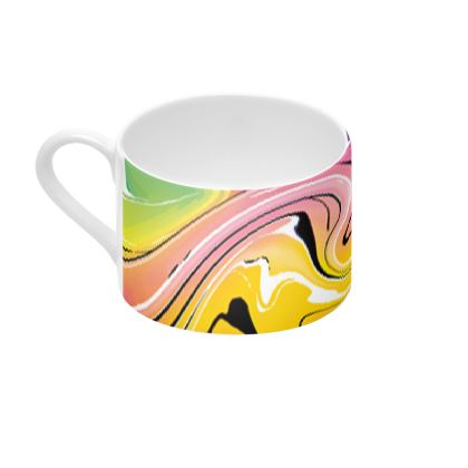 Cup And Saucer - Multicolour Swirling Marble Pattern 12 of 12