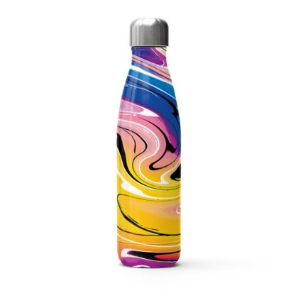 Stainless Steel Thermal Bottle - Multicolour Swirling Marble Pattern 12 of 12