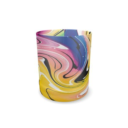 Whisky Glass - Multicolour Swirling Marble Pattern 12 of 12