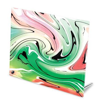 Glass Frame - Multicolour Swirling Marble Pattern 1 of 12
