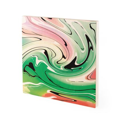 Wood Prints - Multicolour Swirling Marble Pattern 1 of 12
