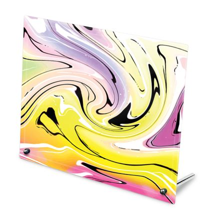 Glass Frame - Multicolour Swirling Marble Pattern 3 of 12