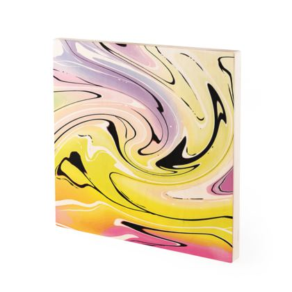 Wood Prints - Multicolour Swirling Marble Pattern 3 of 12