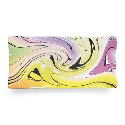 Seder Dish - Multicolour Swirling Marble Pattern 3 of 12